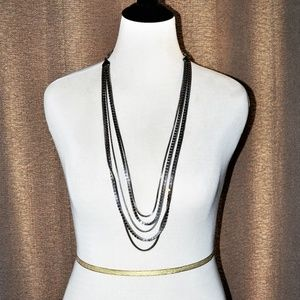 Chico's Layered Silver Chains Necklace
